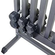 Подставка под гантели для фитнеса на 80шт Zelart (металл, р-р 107х68х105см), фото 4
