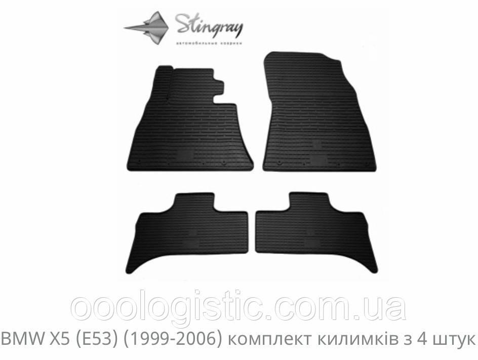 Автоковрики на BMW X5( E53) 1999-2006 Stingray резиновые 4 штуки