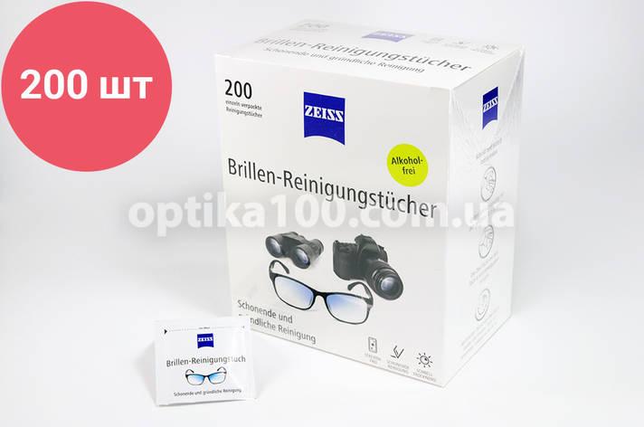 Влажные салфетки ZEISS 30 шт. для очков и оптики, фото 2