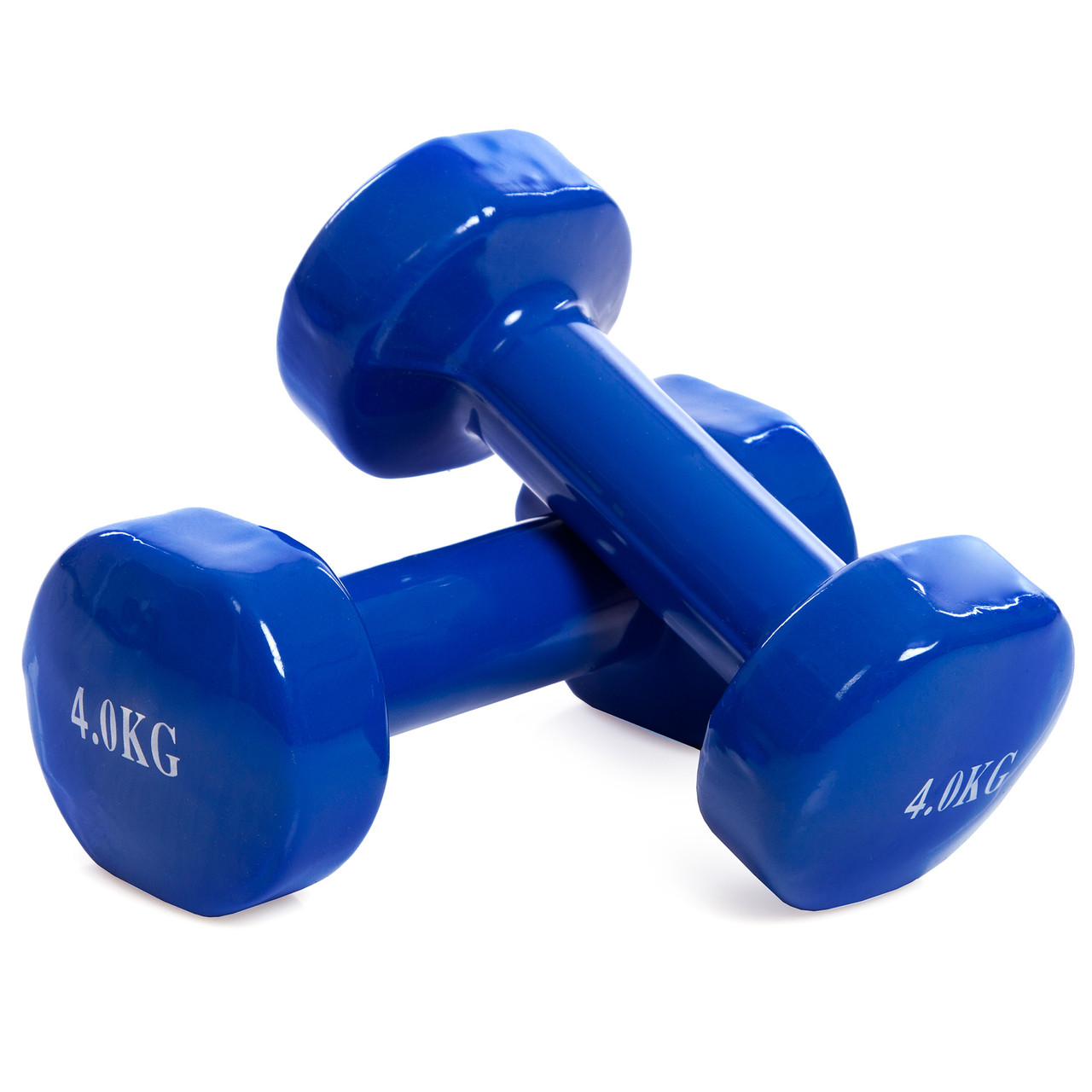 Гантели для фитнеса с виниловым покрытием SP-Planeta Радуга (2x4кг) (2шт, синий)