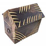 Деревянная копилка для денег Домик, фото 2
