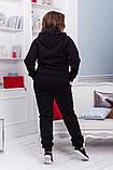 Жіночий трикотажний спортивний костюм трійка-4 кольори, Розміри:46-48,50-52,54-56, фото 3
