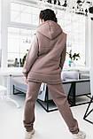 Женский теплый спортивный костюм с жилетом, 2 цвета, Размеры 48 50 52 54, фото 3
