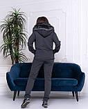 Женский теплый спортивный костюм с жилетом, 2 цвета, Размеры 42,44,46 норма , батал 48,50,52,54, фото 4
