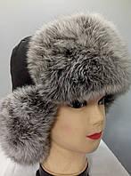 Мужская шапка ушанка с мехом кролика