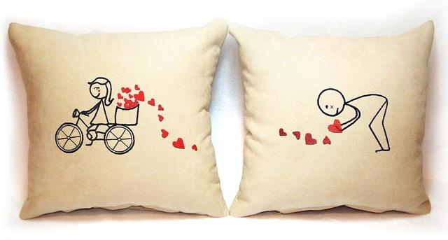 """Набір з двох подушок """"Велосипед"""""""