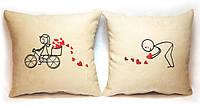 """Набір з двох подушок """"Велосипед"""", фото 1"""