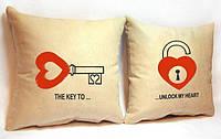 """Набір з двох подушок """"Замочок"""", фото 1"""