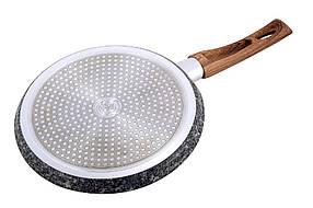 Сковорідка для смачних млинців Kamille 28 см Grey marble з антипригарним покриттям, фото 2