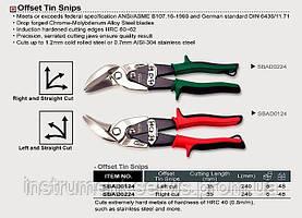 Ножиці по металу вигнуті (ліві) TOPTUL, SBAD0124
