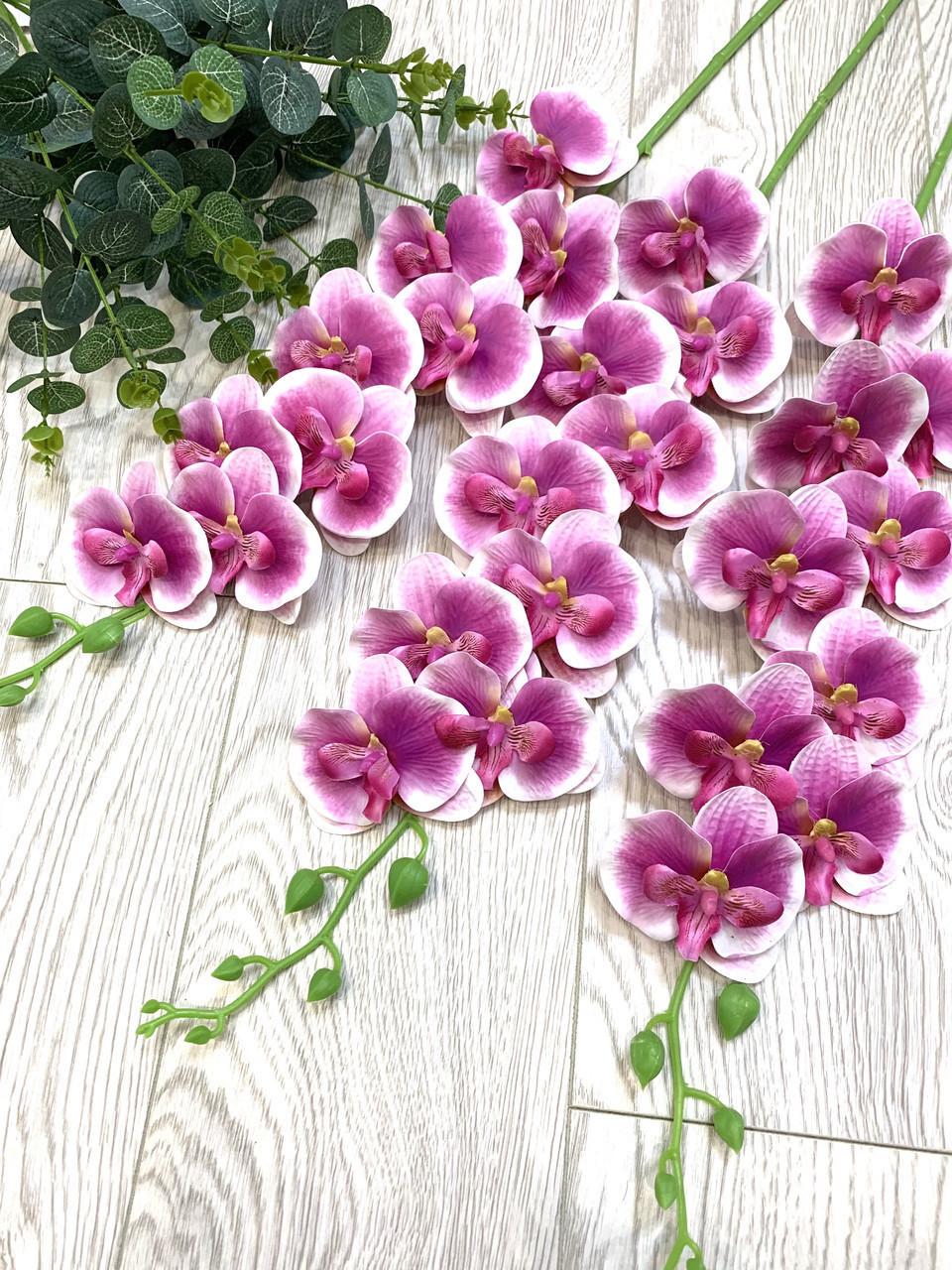Искусственная орхидея фаленопсис латексная сиреневая (95 см)