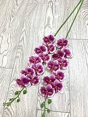 Искусственная орхидея фаленопсис латексная сиреневая (95 см), фото 2