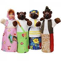 Ігровий Набір ляльок-рукавичок для домашнього Лялькового театру - казка Три ведмедя для дітей і дорослих арт.