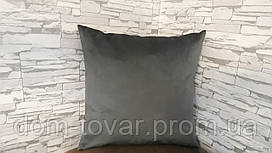 Подушка декоративная 40х40 темно-серая