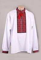 Красочная белая вышитая рубашка для мужчин