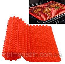 """Антипригарный силиконовый коврик для готовки """"Пирамидка"""" Pyramid Pan Red (3223), фото 2"""