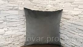 Наволочка декоративная 45х45 темно-серая