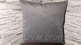 Подушка декоративная 45х45 серая