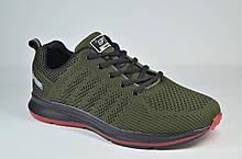 Мужские модные кроссовки сетка цвета хаки Fagao 7901 - 18