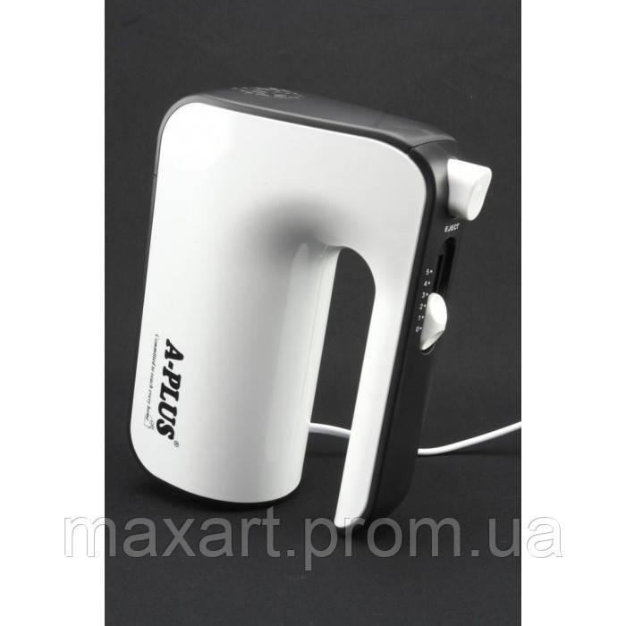 Ручной кухонный миксер A-PLUS 1554 5 скоростей насадки 400Вт Белый