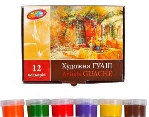 Гуашь Колорит художественная 12цв/17мл