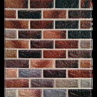 3D панелі Самоклеючі Цегла коричневий мікс 700х770х5мм