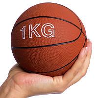 Мяч медицинский медбол Record Medicine Ball 1кг верх-резина, наполнитель-песок