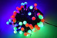 Новогодняя Гирлянда нить - шарики 10 М, 100 LED — разноцветный