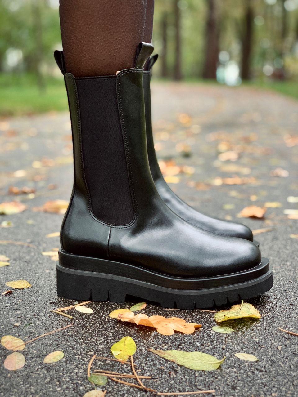 Женские кожаные ботинки Bottega Veneta