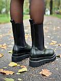 Женские кожаные ботинки Bottega Veneta, фото 4