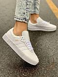 Женские кожаные кроссовки Adidas Samba White Leather белого цвета, фото 5