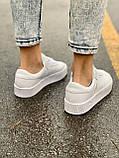 Женские кожаные кроссовки Adidas Samba White Leather белого цвета, фото 6