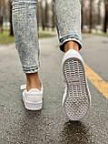 Женские кожаные кроссовки Adidas Samba White Leather белого цвета, фото 8