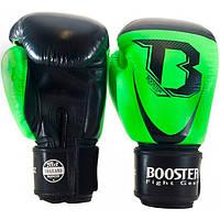 Боксерские перчатки Booster Pro Siam 14 oz Черно-Зеленые Таиланд
