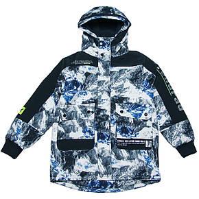 Підліткова демісезонна куртка для хлопчика 134-164 зросту сіра, фото 2