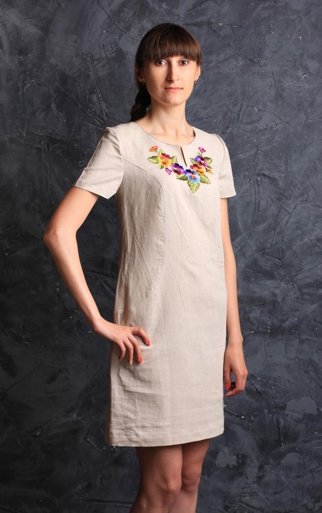 Платье молодежное с вышивкой