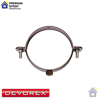 Хомут крепление трубы металлический Devorex Elegance 140 Коричневый