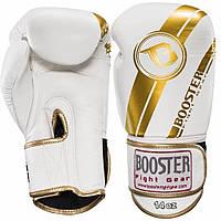 Боксерские перчатки Booster Pro Foil V3 Boxing 12 oz Бело-Золотые Таиланд