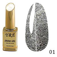 Гель-лак Y.R.E Shine Gel № 01 (15 мл)