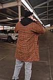 Теракот  Мужское коричневое пальто удлиненное осень/весна. Мужская куртка пальто без капюшона демисезонное, фото 4