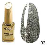 Гель-лак Y.R.E Shine Gel № 02 (15 мл)