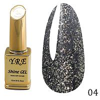 Гель-лак Y.R.E Shine Gel № 04 (15 мл)