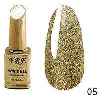 Гель-лак Y.R.E Shine Gel № 05 (15 мл)