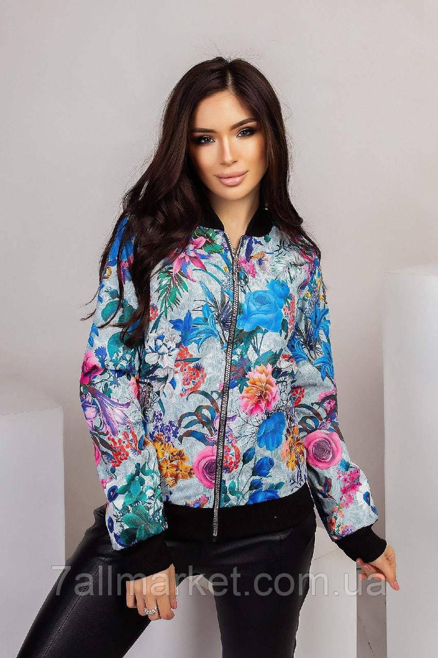 """Куртка-бомбер жіноча на блискавці, розміри 42-52 (3ол)""""MARIANNA"""" купити недорого від прямого постачальника"""