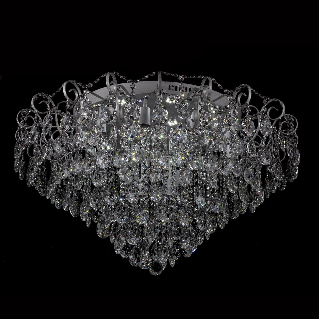 Хрустальная люстра на 15 лампочек и 15 LED модулей P5-E1136/15+15/WT+CH