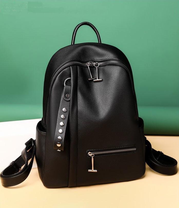 Женский модный кожаный рюкзак