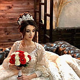 Vanessa's crown - Розкішна корона півколом з неймовірним сяйвом (9 cм), фото 2