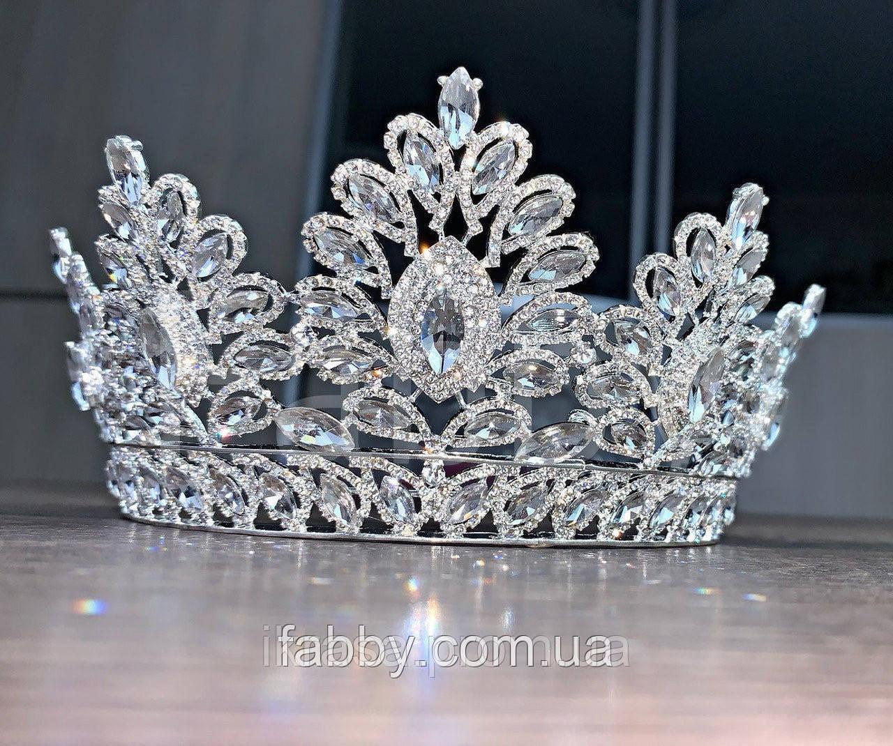 Vanessa's crown - Розкішна корона півколом з неймовірним сяйвом (9 cм)