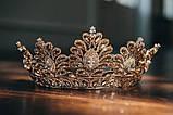 Vanessa - Розкішна корона півколом з неймовірним сяйвом (9 см) (висока діадема), фото 3