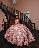Vanessa - Розкішна корона півколом з неймовірним сяйвом (9 см) (висока діадема), фото 4